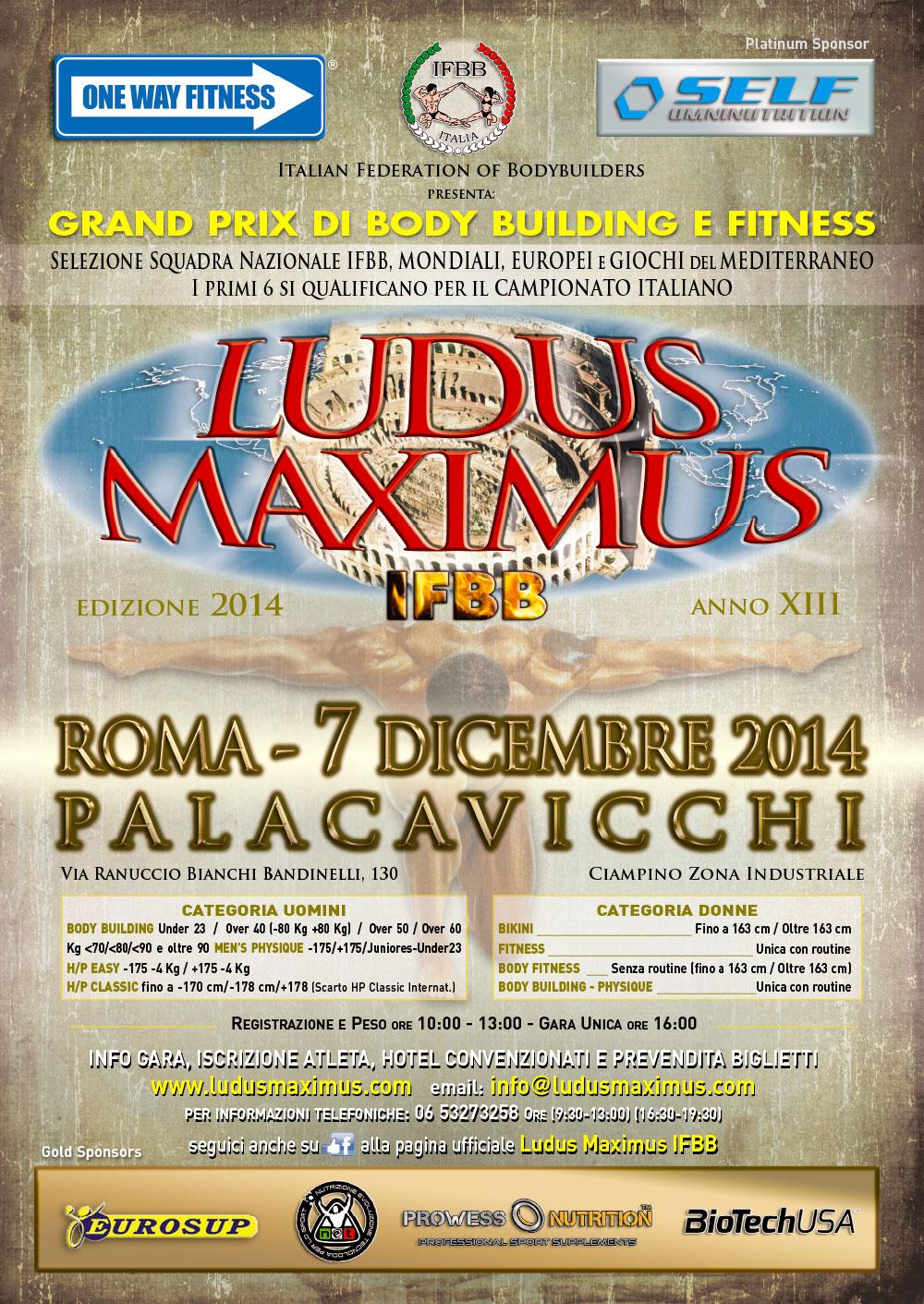 road to ludus maximus ifbb 2014: Roberto Romano